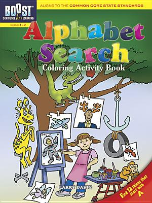 Alphabet Search Coloring Activity Book By Daste, Larry